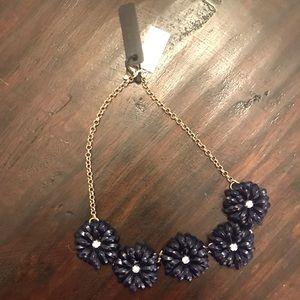 Navy Floral Jcrew necklace